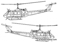 bell uh 1d iroquois model airplane plan