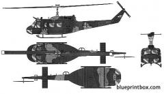 bell uh 1h huey model airplane plan