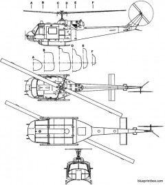 bell uh 1n model airplane plan