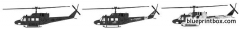 bell uh 1n huey gunship model airplane plan