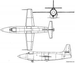bell x 1 1946 usa model airplane plan