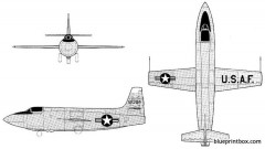 bell x 1a model airplane plan