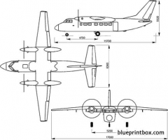 beriev 32k model airplane plan
