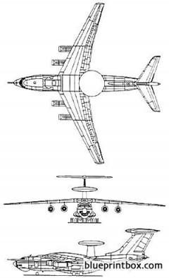beriev a 50 mainstay aew model airplane plan
