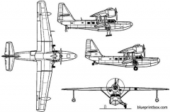 beriev be 8 1947 russia model airplane plan