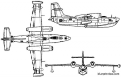 beriev r 1 1952 russia model airplane plan