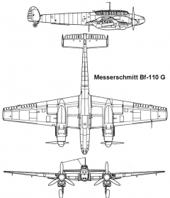 bf110 1 3v model airplane plan