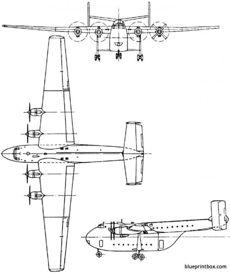 blackburn b 101 beverley 1949 england model airplane plan