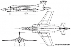 blackburn hawker siddeley b 103 buccaneer 1958 england model airplane plan