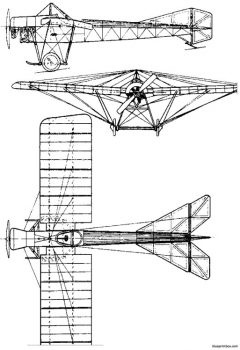 blackburn monoplane typ d 1912 model airplane plan