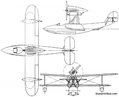 blackburn pellet 1923 england model airplane plan