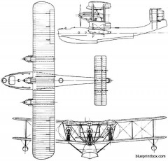 blackburn rb1 iris 1926 england model airplane plan