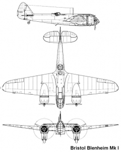 blenheim1 1 3v model airplane plan
