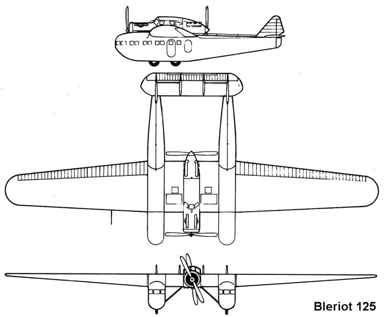 bleriot125 3v model airplane plan