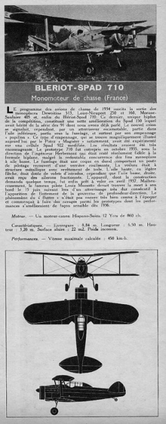 bleriot spad 710 model airplane plan