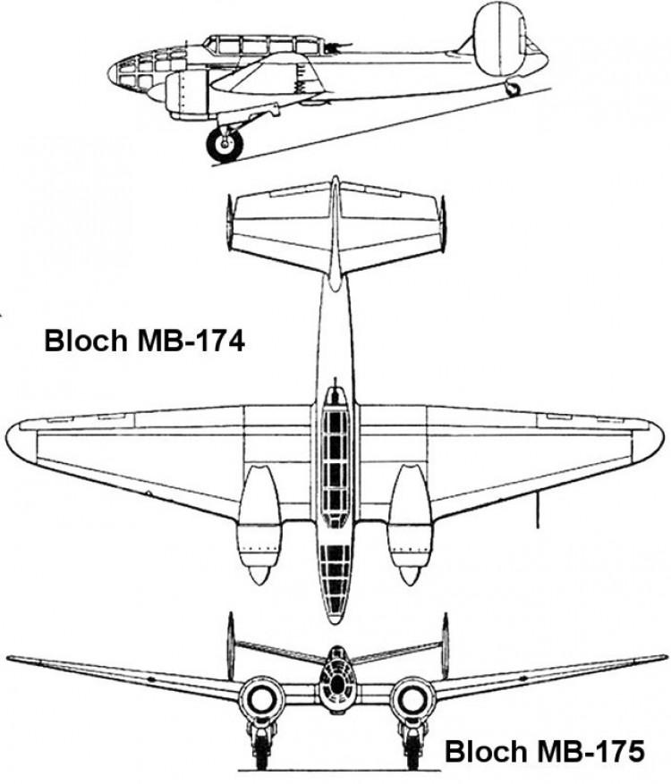 bloch175 3v model airplane plan