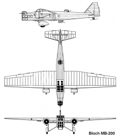 bloch200 3v model airplane plan