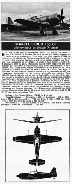 bloch 155c1 model airplane plan