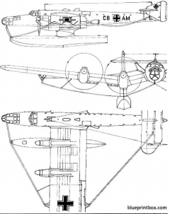 blohm  voss bv 139 model airplane plan