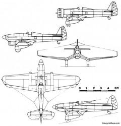 blohm und voss bv 137 model airplane plan
