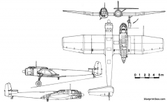 blohm und voss bv 141 model airplane plan