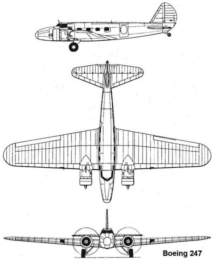 boeing247 3v model airplane plan
