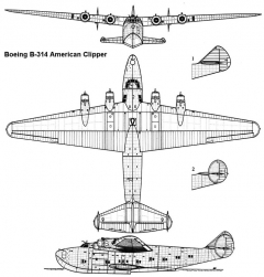 boeing314 3v model airplane plan