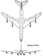 boeing707 2 model airplane plan