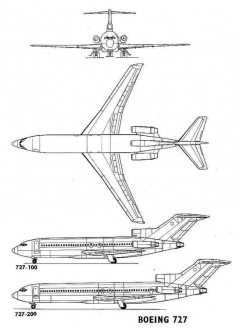 boeing727 3v model airplane plan