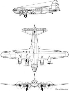 boeing 307 stratoliner model airplane plan