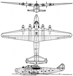 boeing 314 american clipper model airplane plan