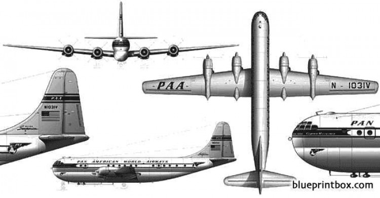 boeing 377 stratocruiser model airplane plan