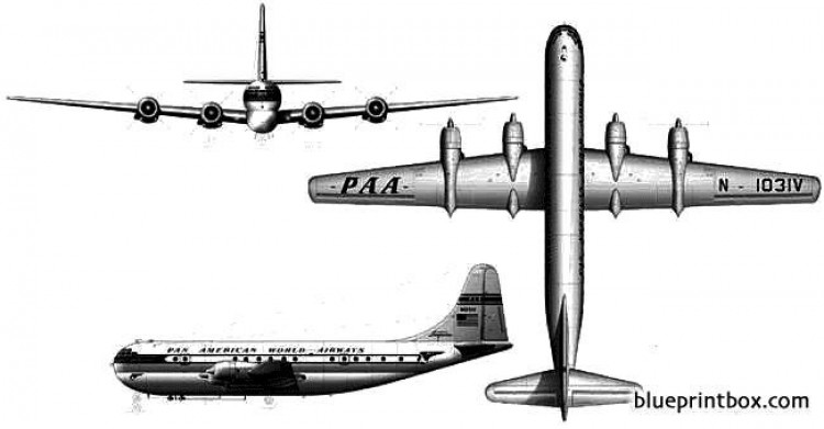 boeing 377 stratocruiser 2 model airplane plan