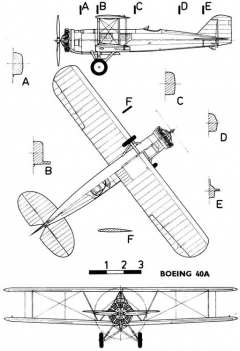 boeing 40a 3v model airplane plan