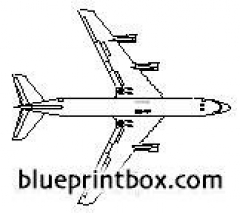 boeing 707 120b model airplane plan