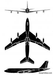 boeing 707 3 model airplane plan