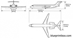 boeing 717 model airplane plan