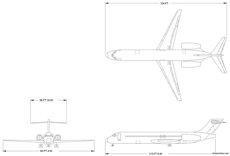 boeing 717 2 model airplane plan