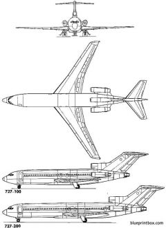 boeing 727 model airplane plan