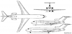 boeing 727 100c and 727 200 model airplane plan