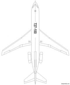 boeing 727 100p model airplane plan