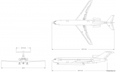 boeing 727 200 model airplane plan
