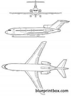 boeing 727 200 1 model airplane plan