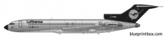 boeing 727 230 model airplane plan
