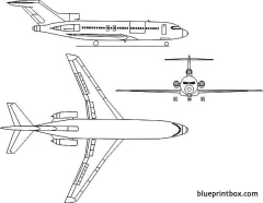 boeing 727 3 model airplane plan