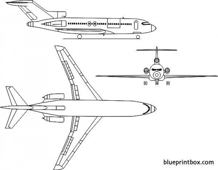 boeing 727 3 model airplane plan