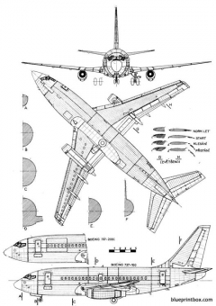 boeing 737 2 model airplane plan