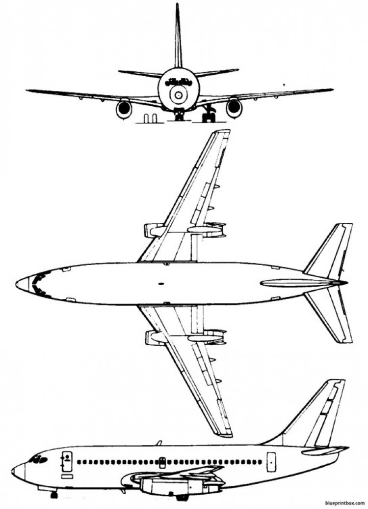 boeing 737 200 2 model airplane plan