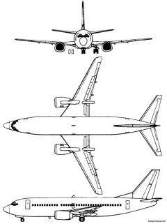 boeing 737 300 2 model airplane plan