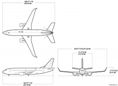 boeing 737 300w model airplane plan